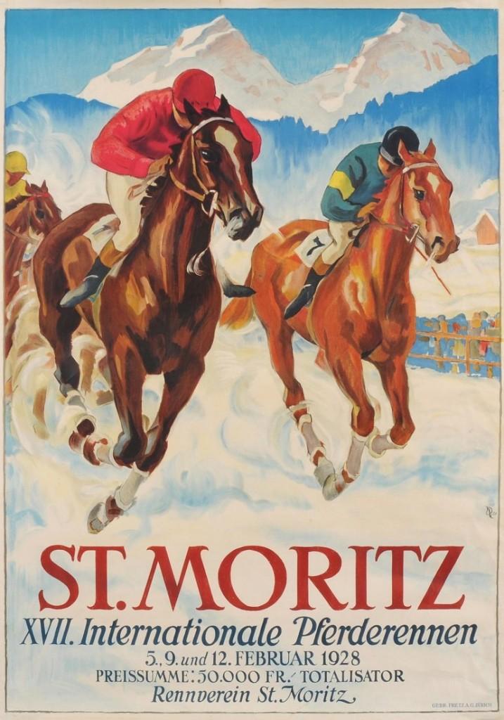 Hugo Laugi, 1928: XVII. Pferderennen St. Moritz