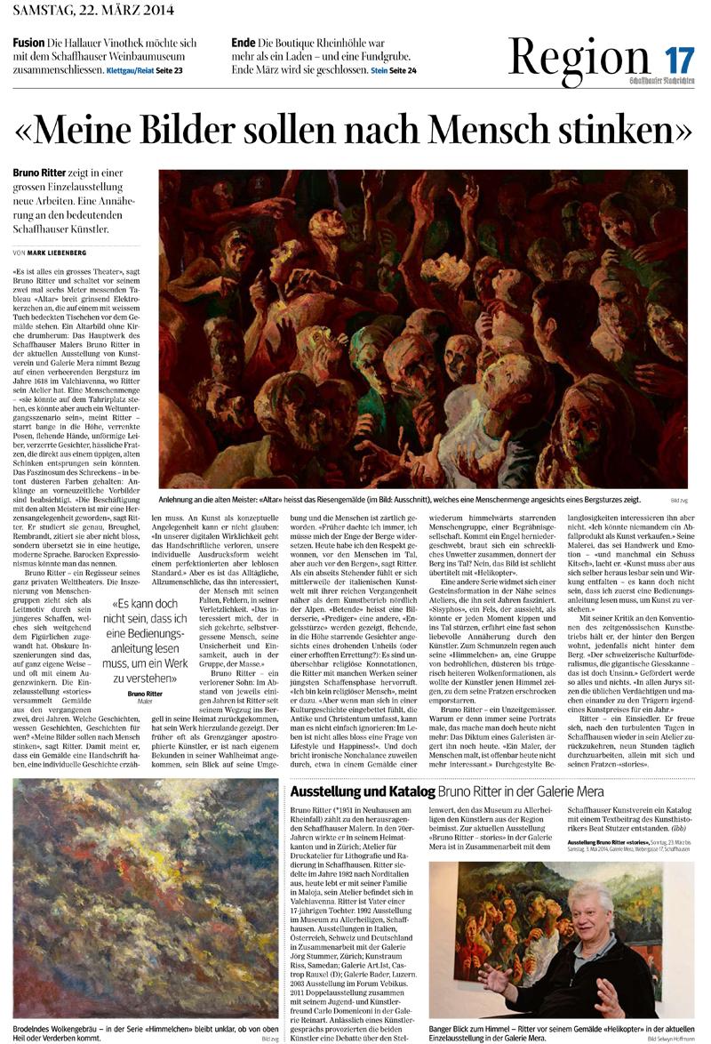 Schaffhauser Nachrichten - Ausgabe vom 22.03.2014