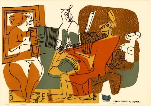 Le Corbusier - Les musiciennes, e. a., handsign.