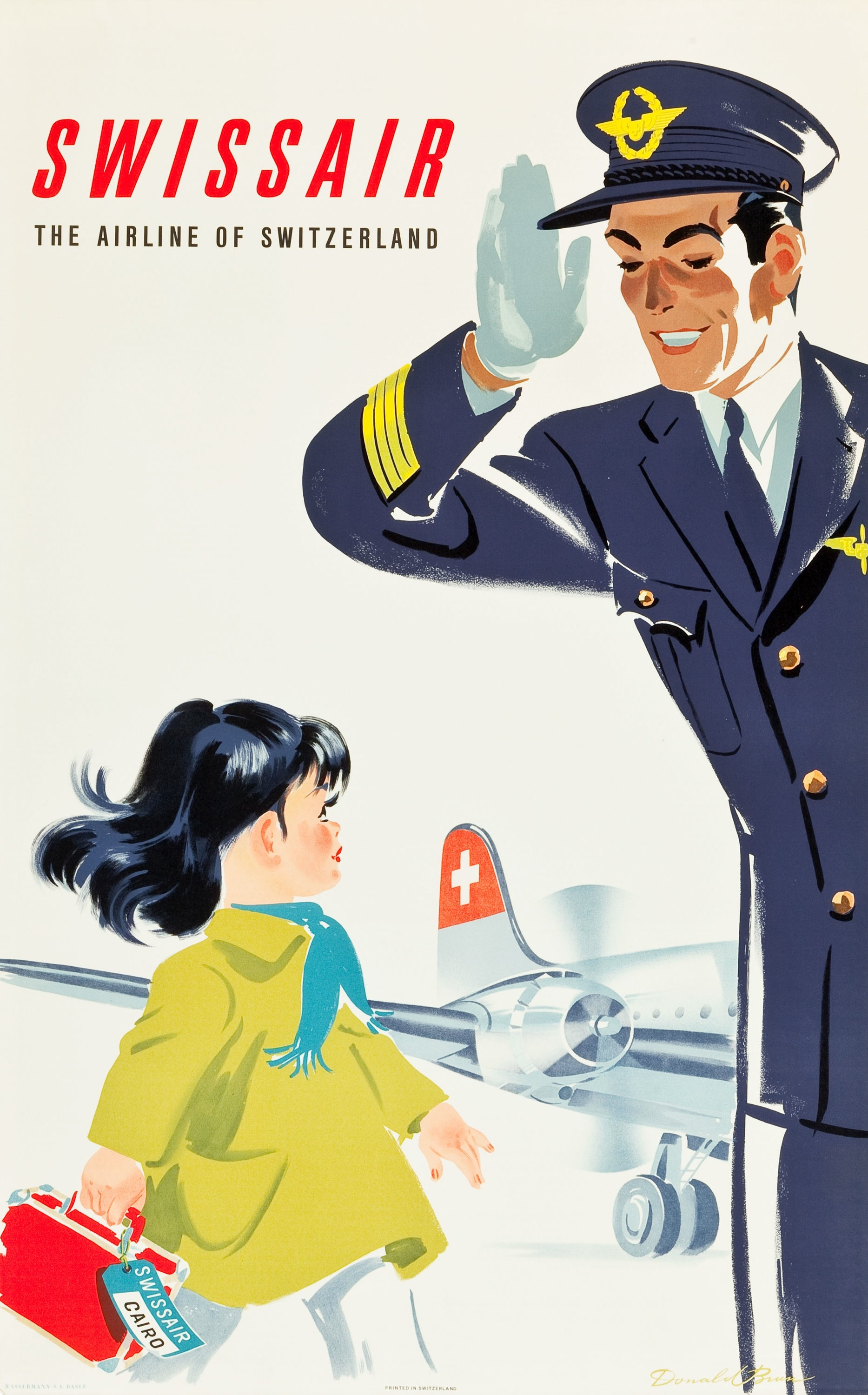 Donald Brun, 1950: Swissair
