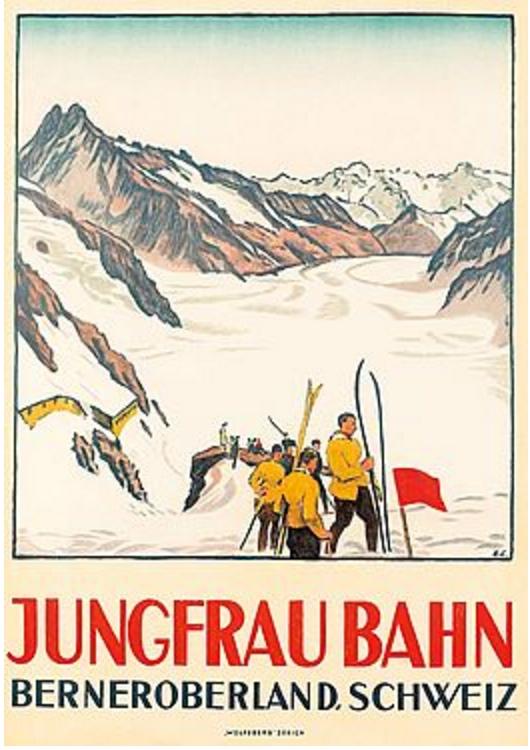 Emil Cardinaux: Jungfraubahn, 1924
