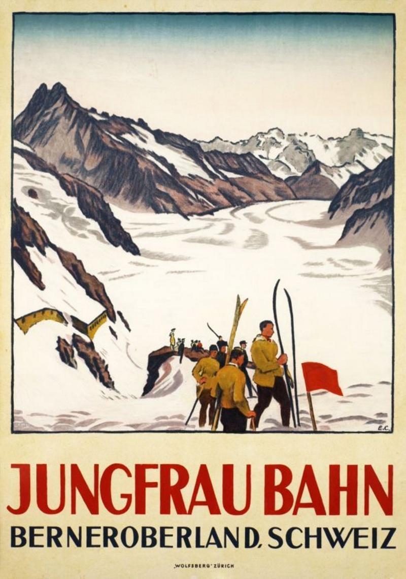 Emile Cardinaux, 1924: Jungfraubahn, Berner Oberland