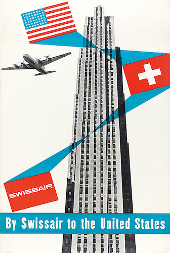 Henri Ott, 1951: By Swissair to the United States