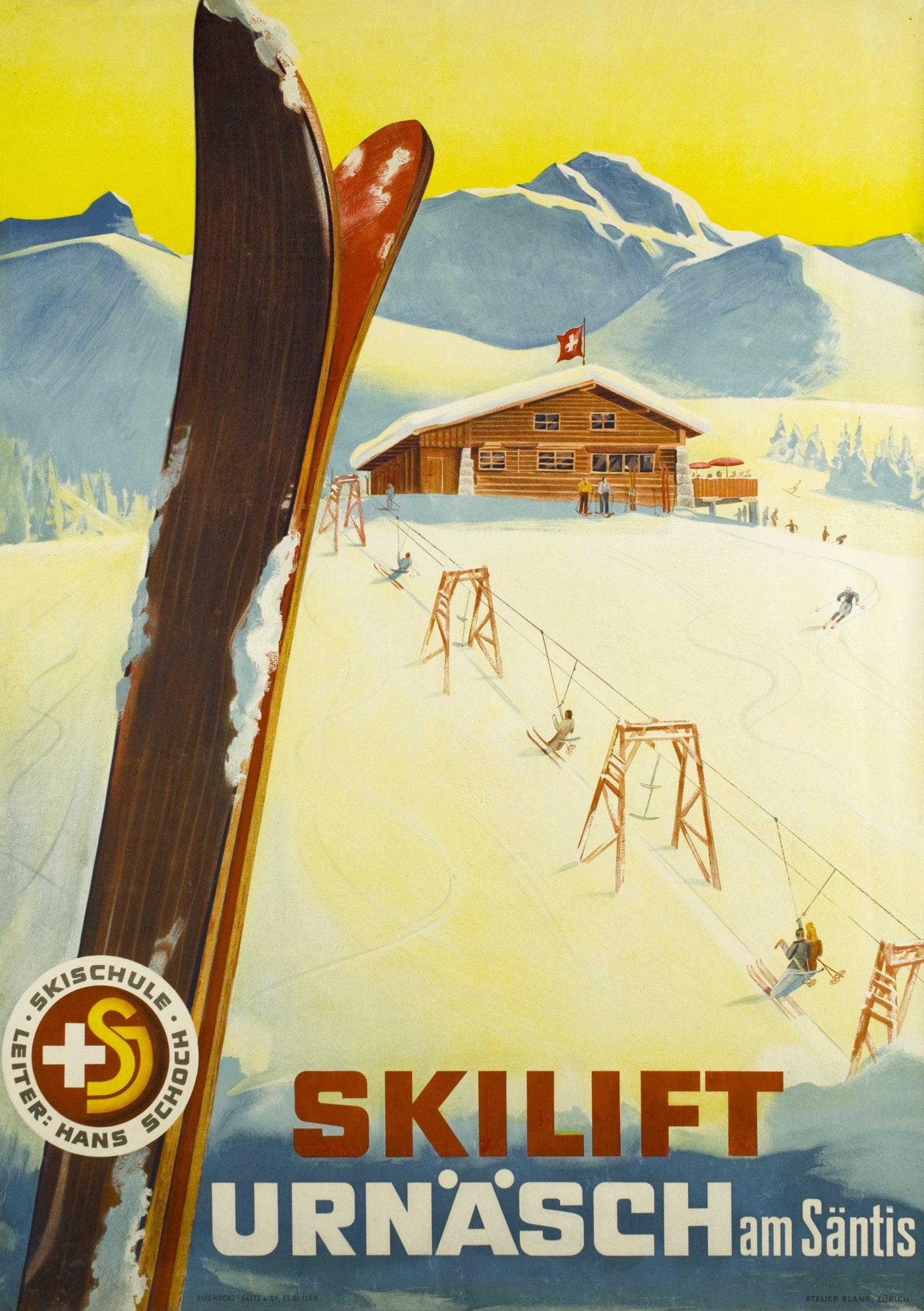 Atelier Blank, 1944: Skilift Urnäsch am Säntis