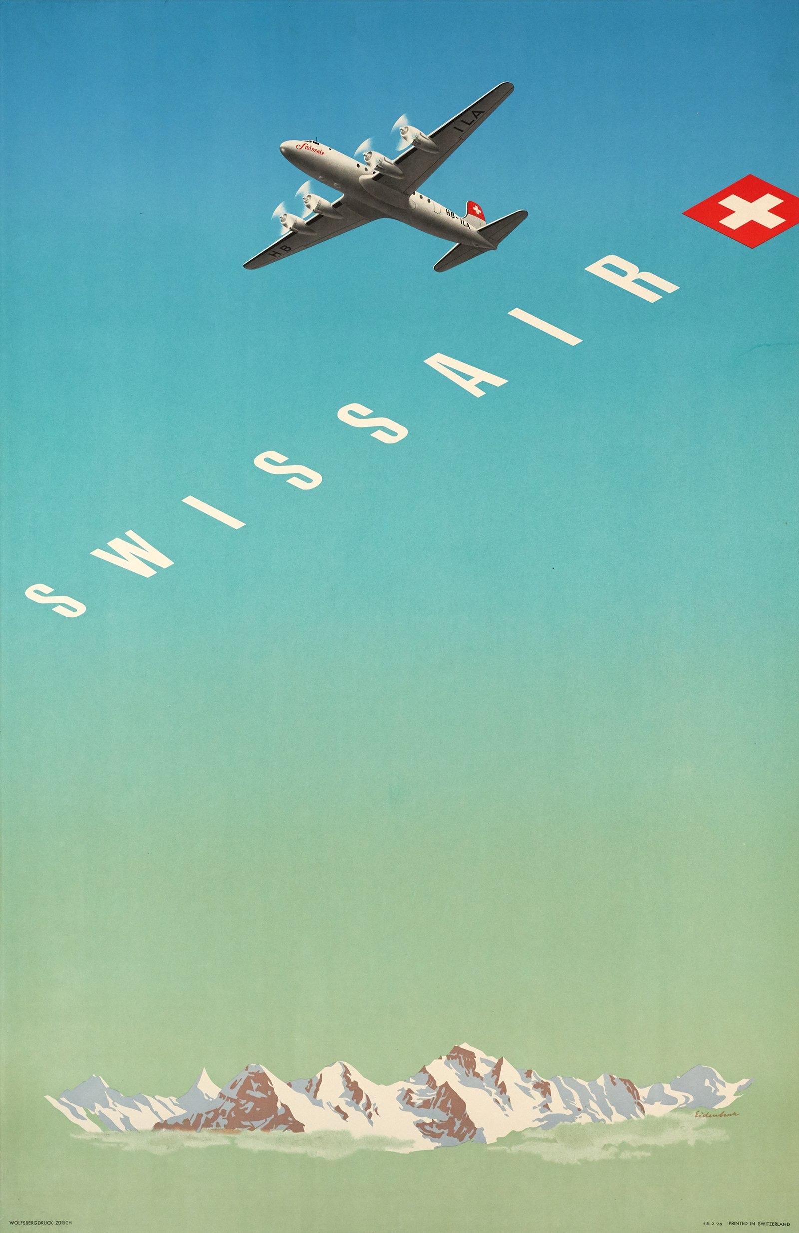 Hermann Eidenbenz, 1948: Swissair