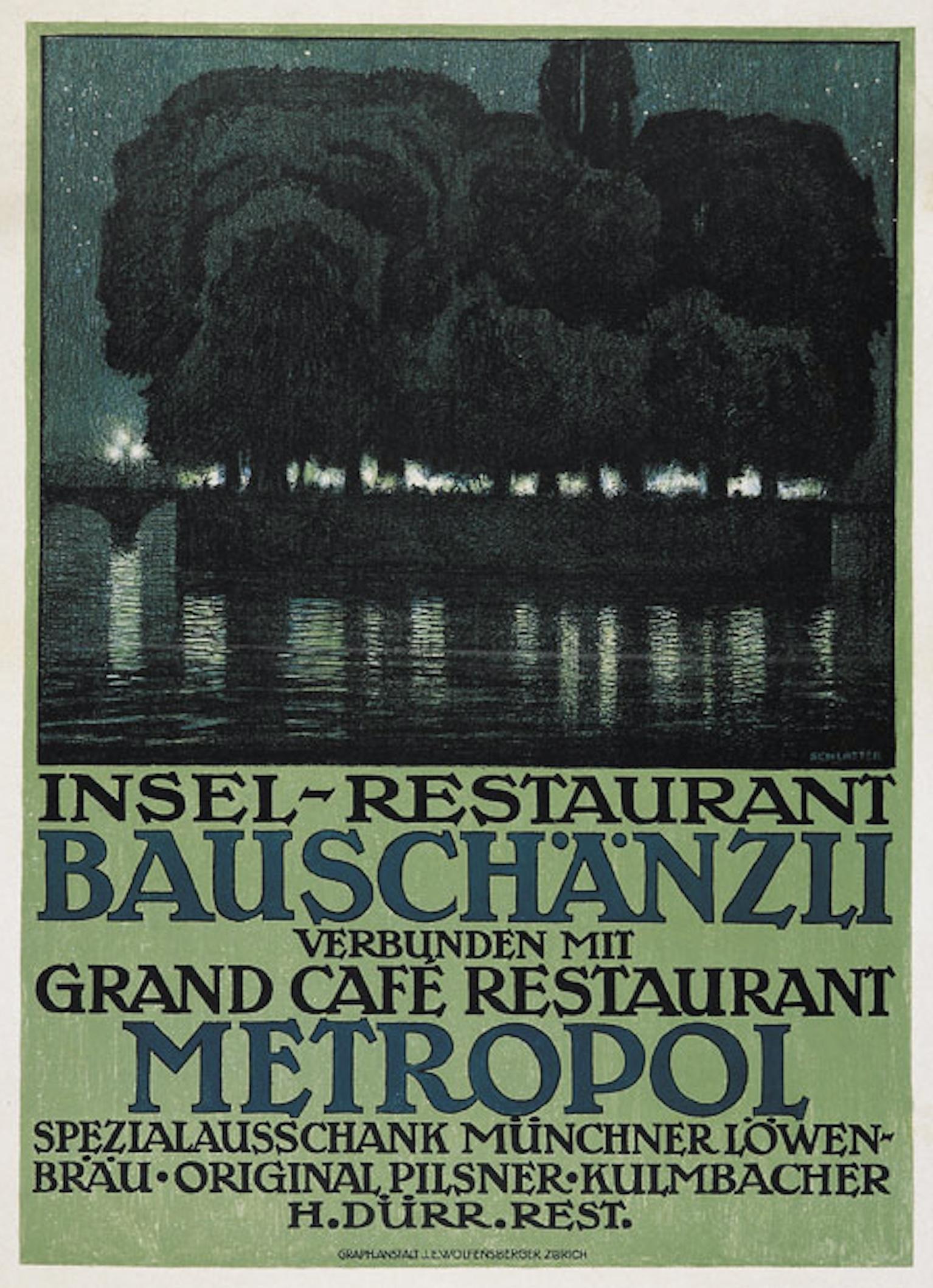 Ernst Emil Schlatter, 1917: Insel-Restaurant Bauschänzli
