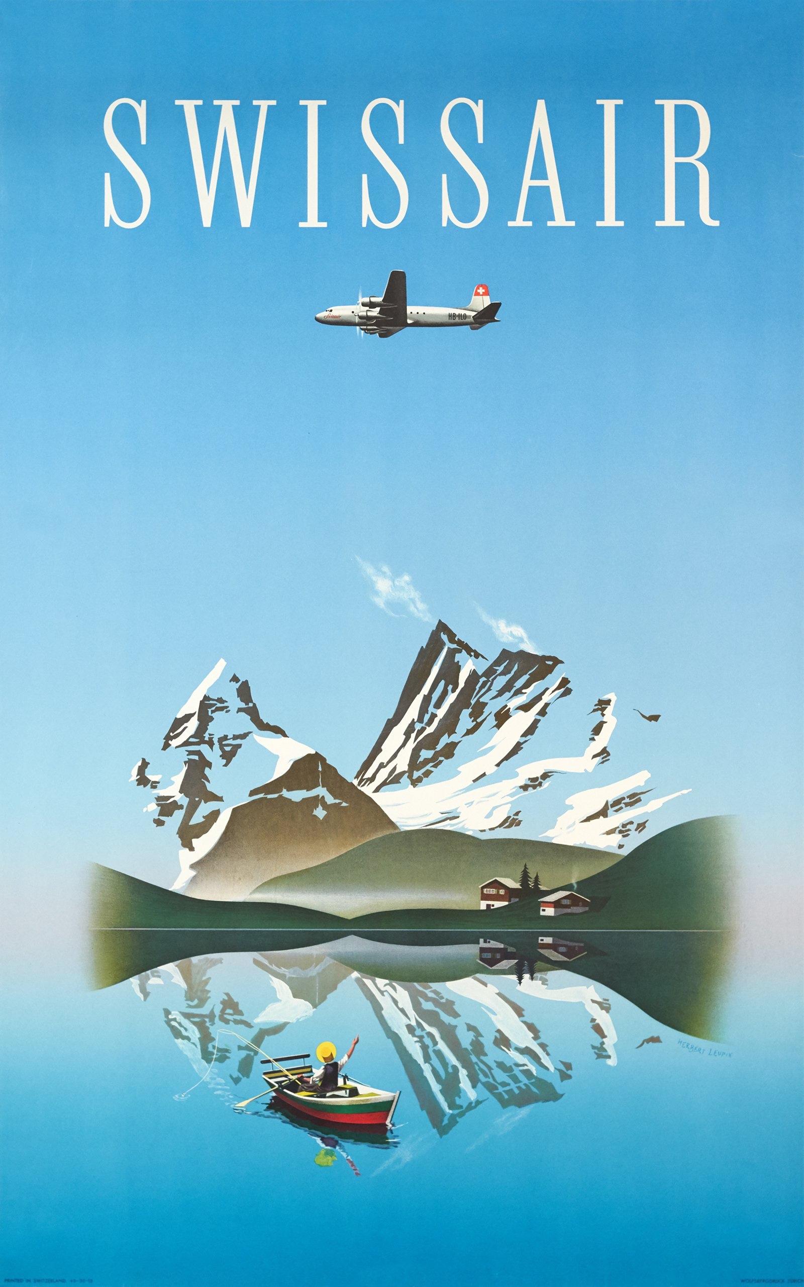 Herbert Leupin, 1949: Swissair